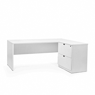 "72""w x 30""d White Laminate Shell Desk DSK013657"