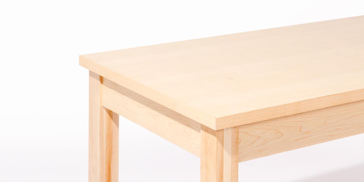 """48""""w x 24""""d Maple Veneer Table Desk DSK013944"""