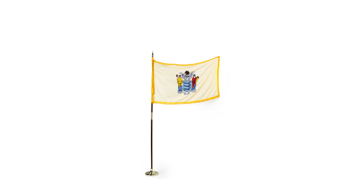 """60""""w x 36""""h New Jersey State Flag FLG013992"""
