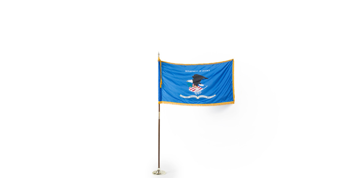 """60""""w x 36""""h Department of Justice Flag FLG013997"""