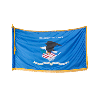 "60""w x 36""h Department of Justice Flag FLG013997"