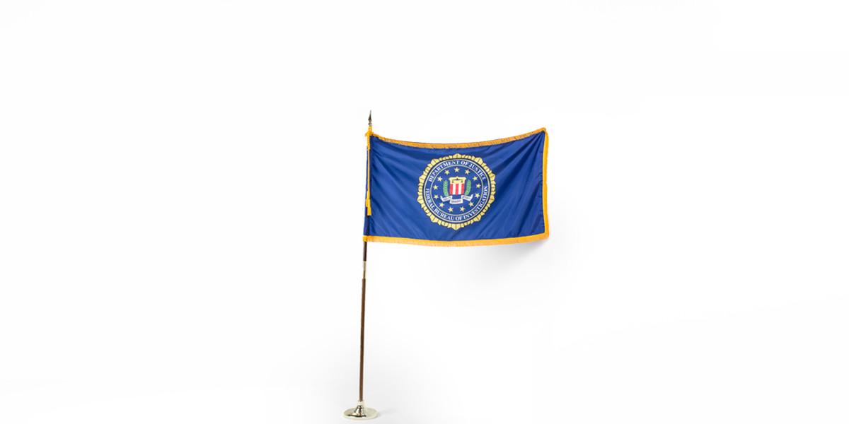 "60""w x 36""h FBI Flag FLG013999"