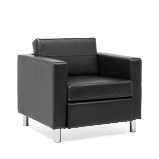 Black Vinyl Club Chair CHR013988