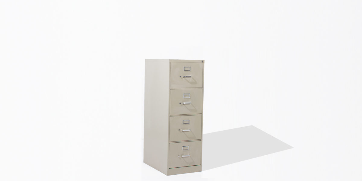 "18.25""w 26.5""d Putty Vertical File FIL012259"