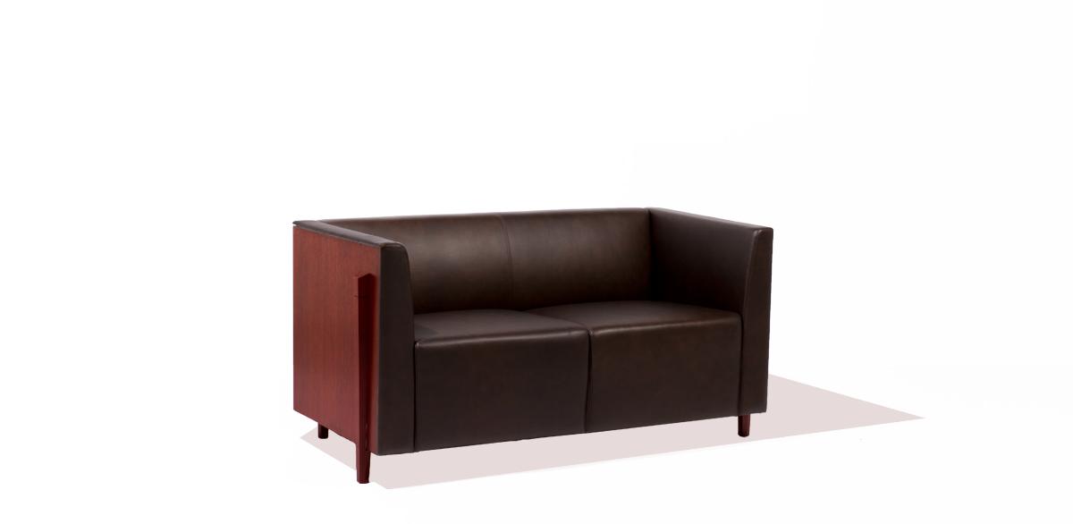 """54.5""""w x 27""""d Mocha Leather Loveseat LVS009855"""