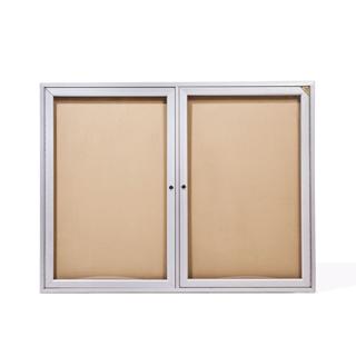 """48""""w x 36""""h Glass Wall Bulletin Board MIS011734"""