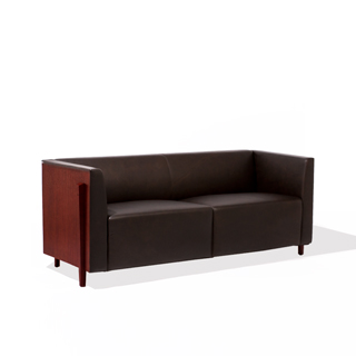 "72""w x 27""d Mocha Leather Sofa SOF009854"