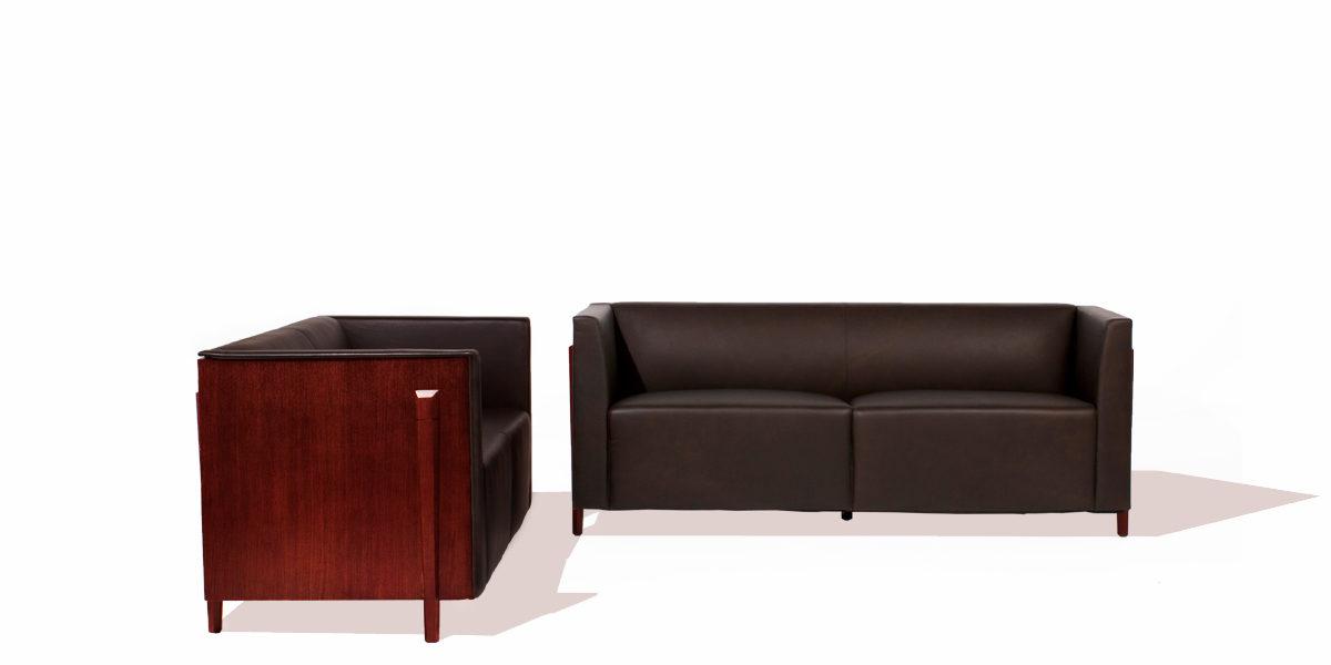 """72""""w x 27""""d Mocha Leather Sofa SOF009854"""