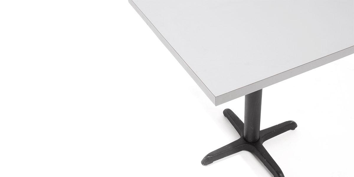 "30""w x 30""d Grey Laminate Café Table Top TBL007369"