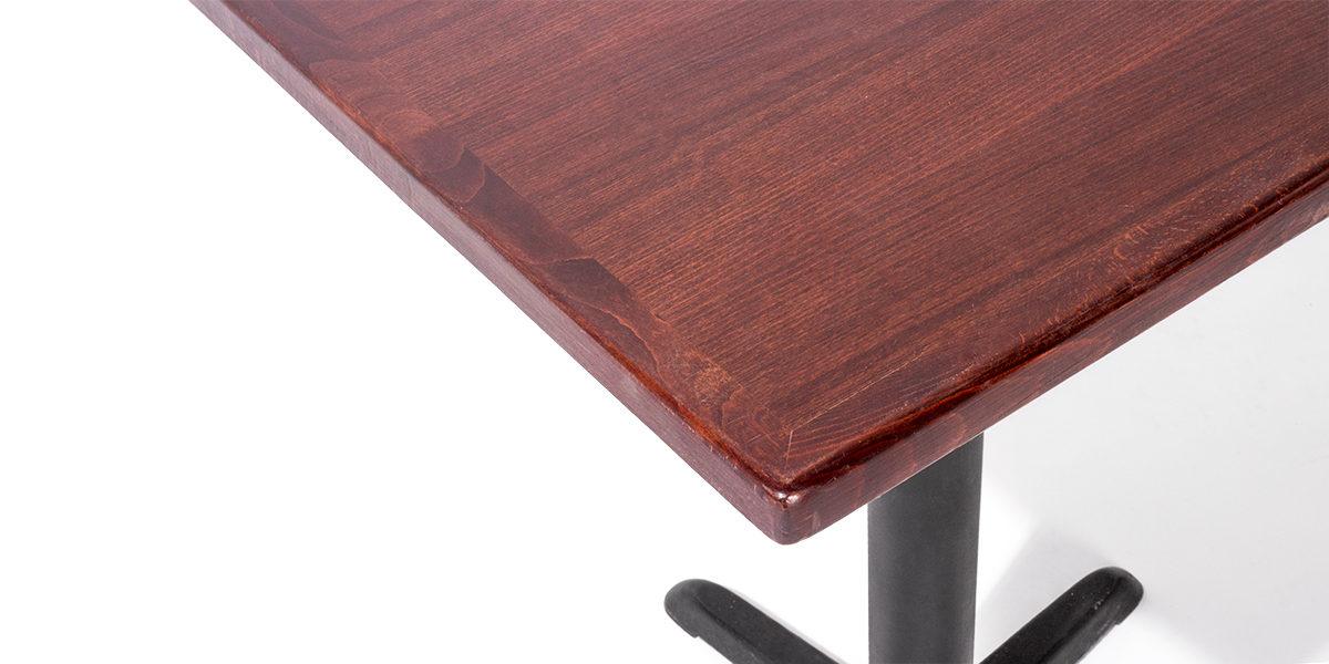 """24""""w x 24""""d Walnut Veneer Café Table Top TBL007494"""