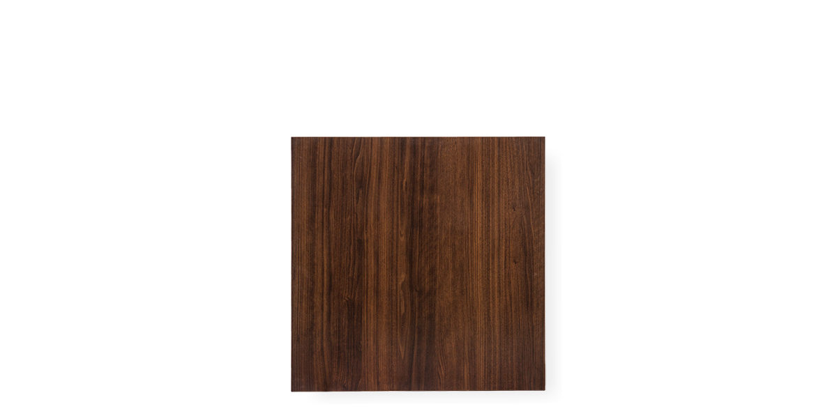 "30""w x 30""d Walnut Laminate Café Table Top TBL012160"