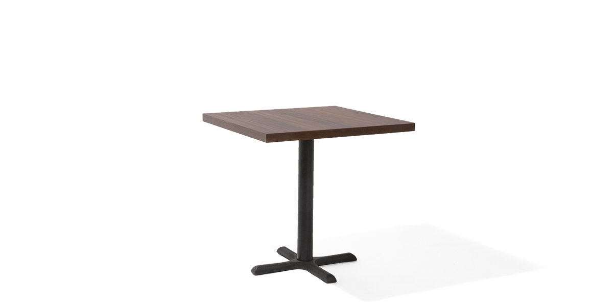 "30""w x 30""d Walnut Laminate Café Table Top TBL012160"