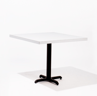 "36""w x 36""d White Laminate Café Table Top TBL012214"
