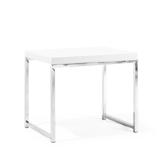 "22""w x 15.75""d White End Table TBL013127"