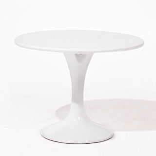 "24""dia White Laminate Saarinen End Table TBL013476"