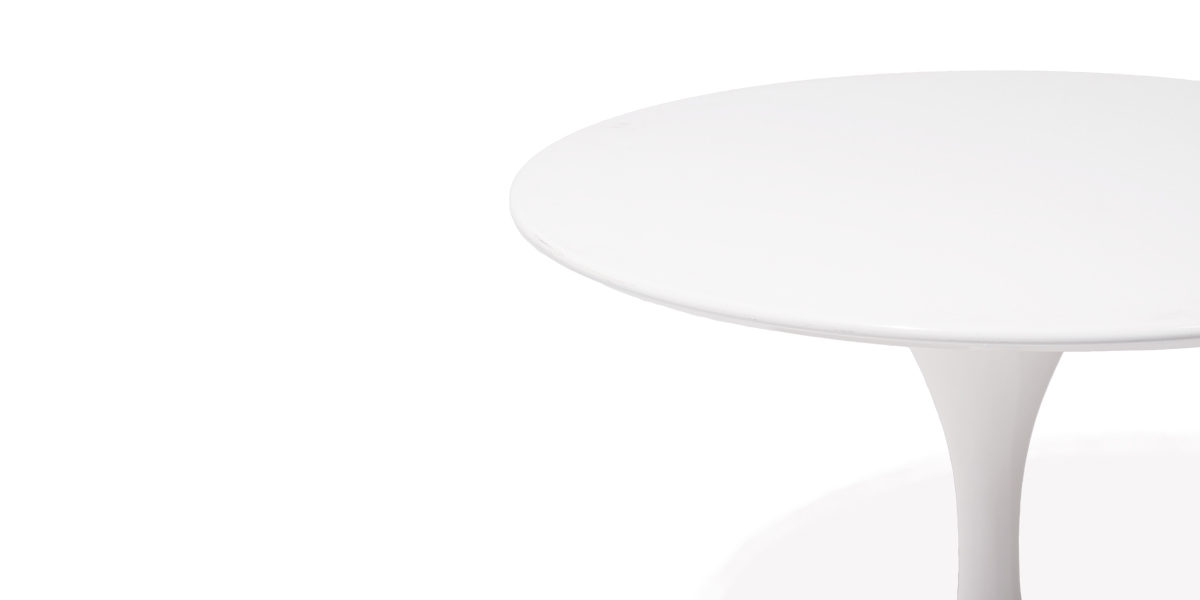 "36""dia White Saarinen Round Table TBR014733"