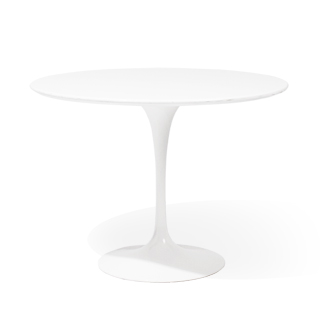 "36""dia White Saarinen Round Table TBR012162"