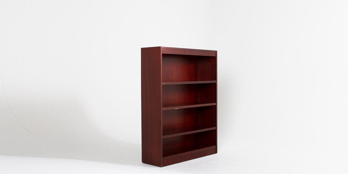 """36""""w x 48""""h Mahogany Veneer Bookcase BKC004443"""