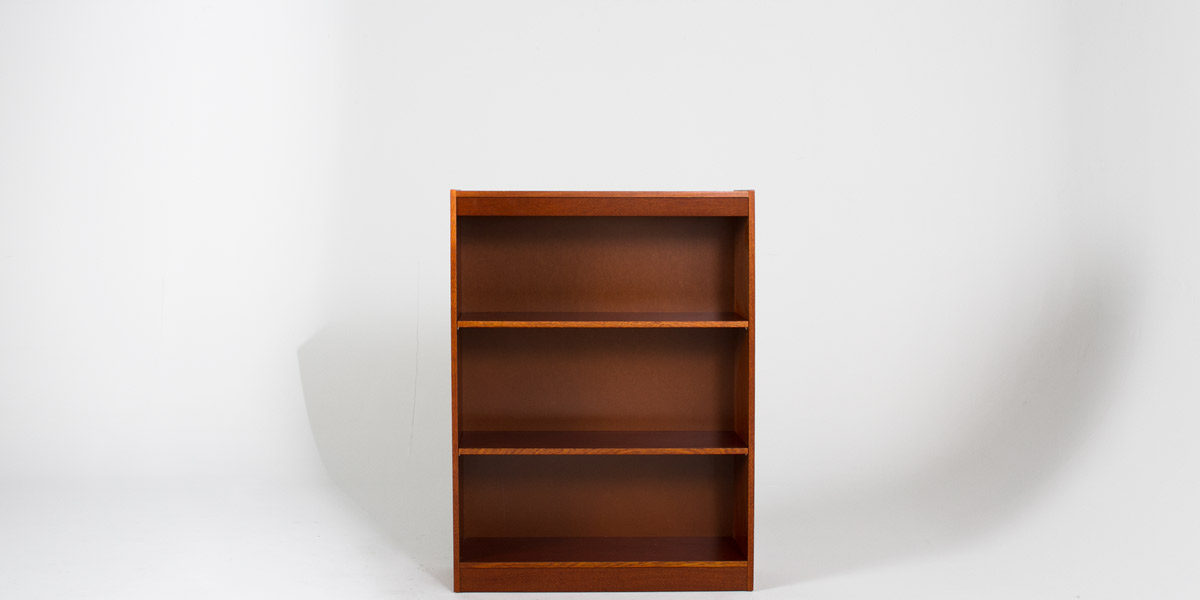 "36""w x 48""h Medium Oak Bookcase BKC010128"