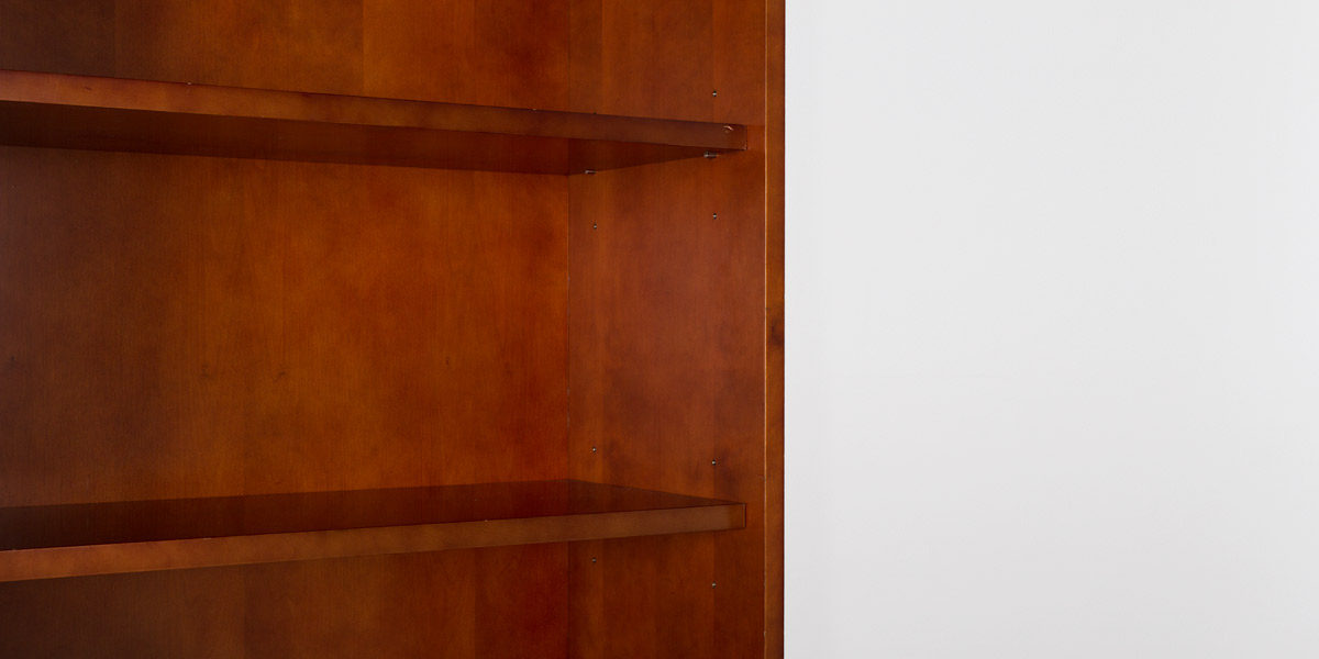 "36""w x 79""h Medium Cherry Bookcase BKC011425"