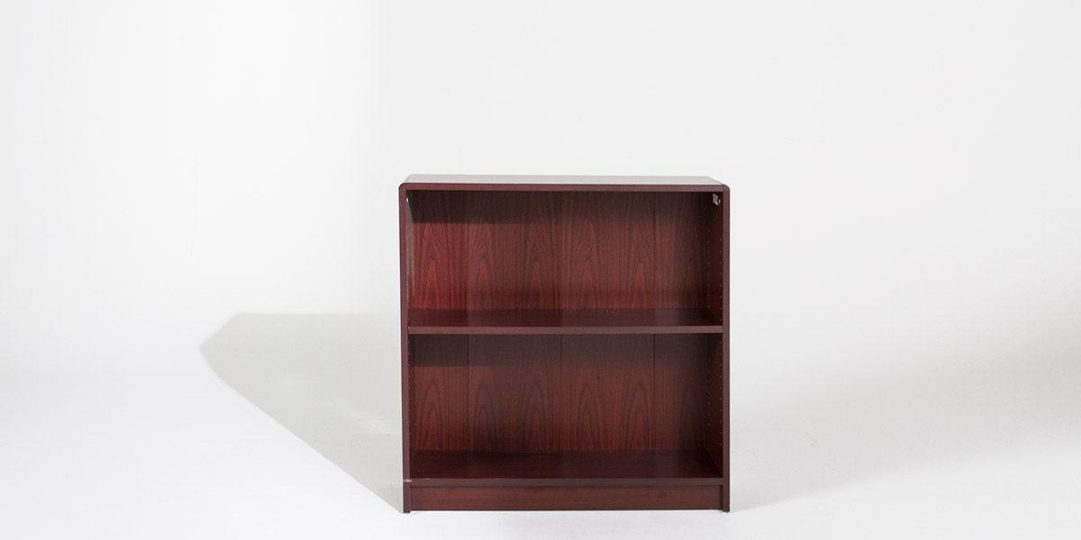 """36""""w x 36""""h Mahogany Laminate Bookcase BKC013040"""