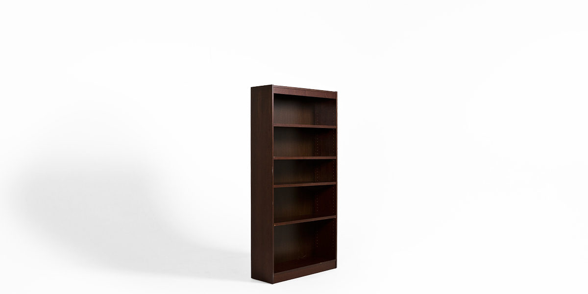 "36""w x 72""h Dark Walnut Bookcase BKC013433"