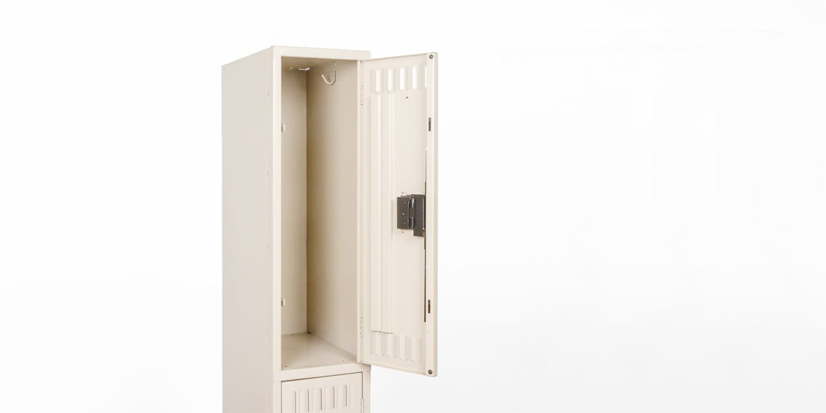 "12""w x 18""d Putty Single Two Door Locker CAB012212"