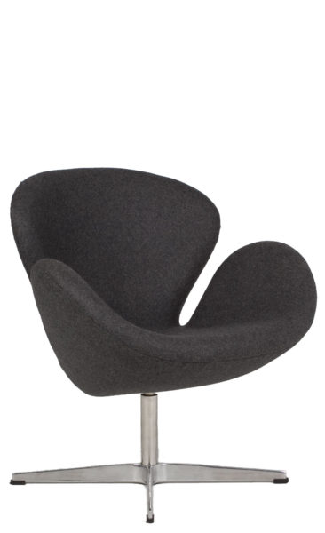 Dark Grey Fabric Swan Chair CHR012584