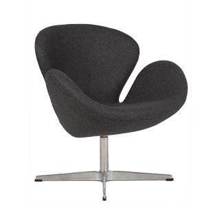 Dark Grey Fabric Swan Chair CHR012584