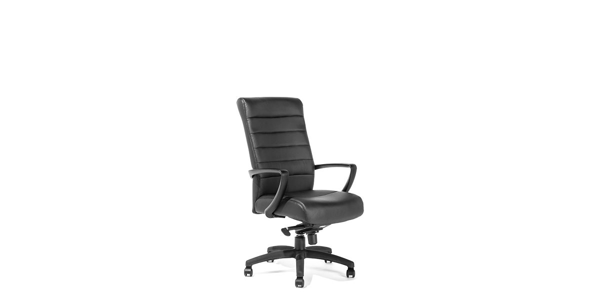 Black Leather Hi-Back Office Chair CHR013984