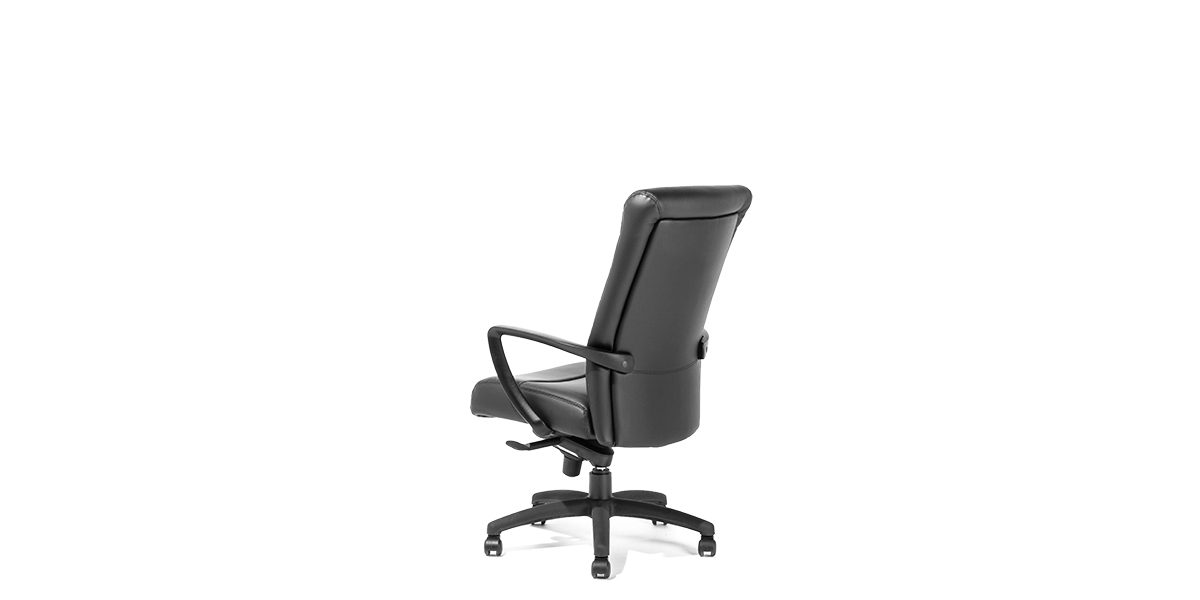 Black Leather Hi Back Office Chair Chr013984 Arenson