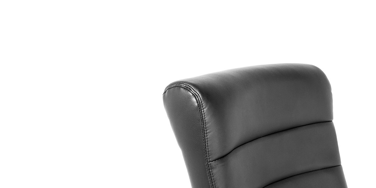 Black Leather Hi-Back Office Chair CHR013984