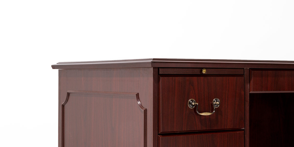 "66""w x 30""d Traditional Mahogany Left Pedestal Desk DSK013755"