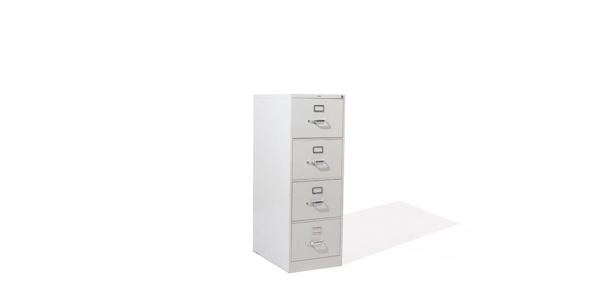 "18.25""w x 26.5""d Light Grey Vertical File FIL003399"