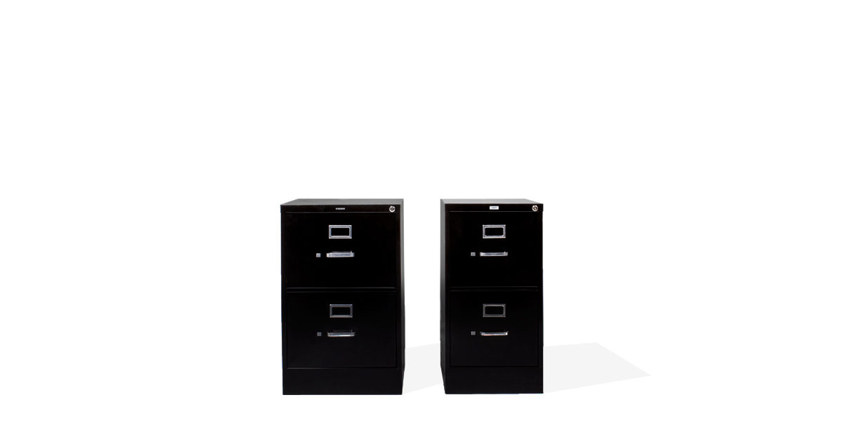 "18""w x 27""d Black Vertical File FIL010725"