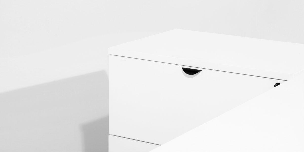 """30""""w x 20""""d White Laminate Lateral File FIL013658"""