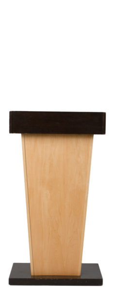 "26""w x 48""h Dark Walnut + Maple Victoria Lectern LEC013859"