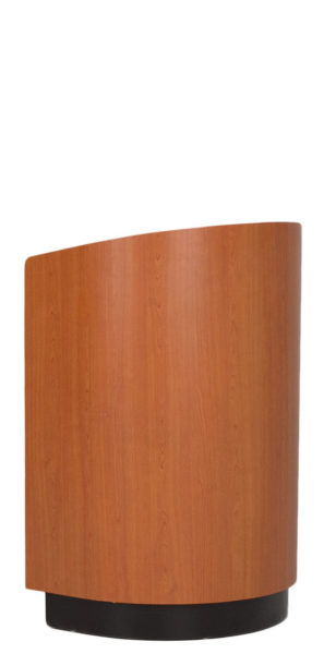 "21.25""w x 47.5""h Cherry Rounded Lectern LEC013870"