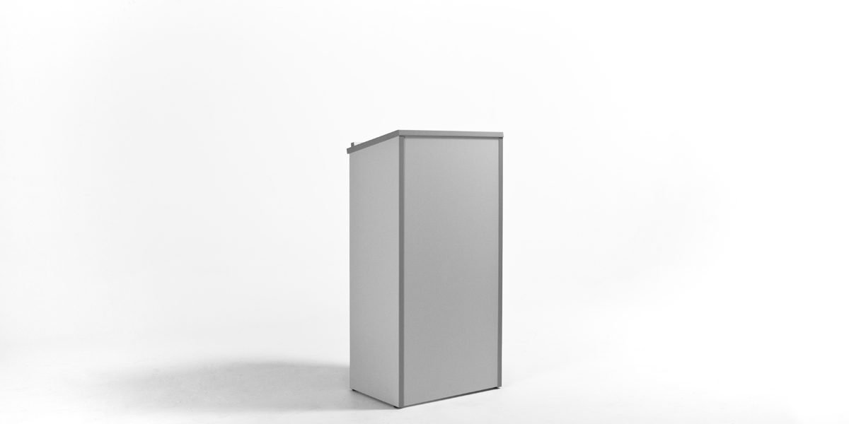 "23""w x 46.25""h Light Grey Laminate Lectern LEC013924"