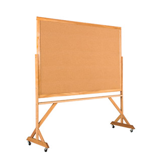 "74""w x 77.5""h Natural Wood Bulletin Board MIS011967"