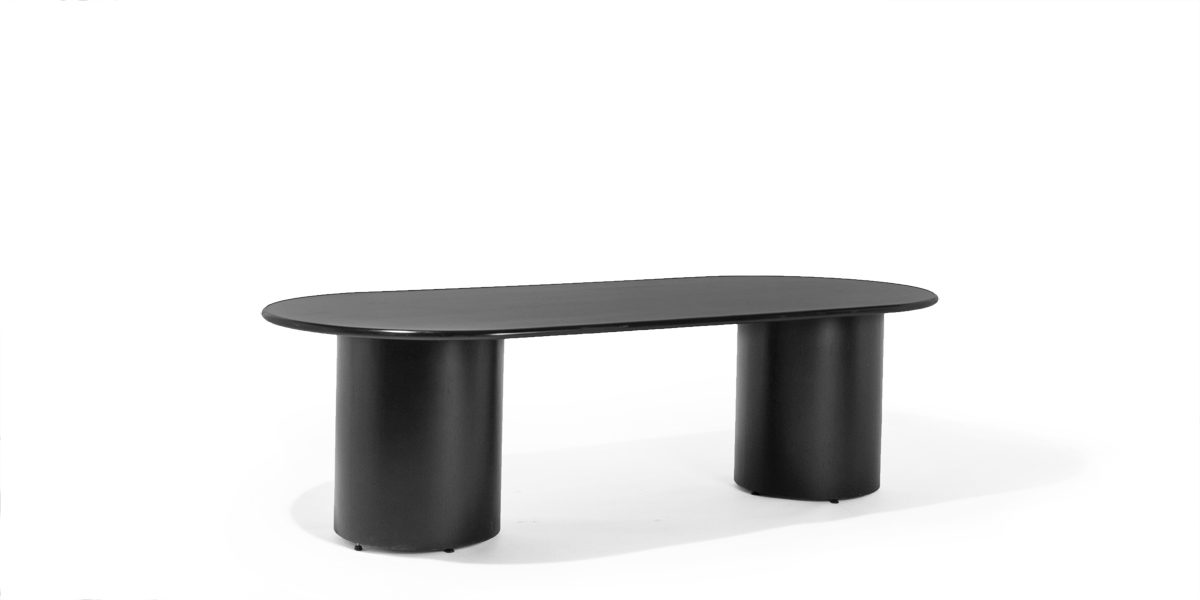 "96""w x 43""d Black Laminate Racetrack Conference Table TBL003560"
