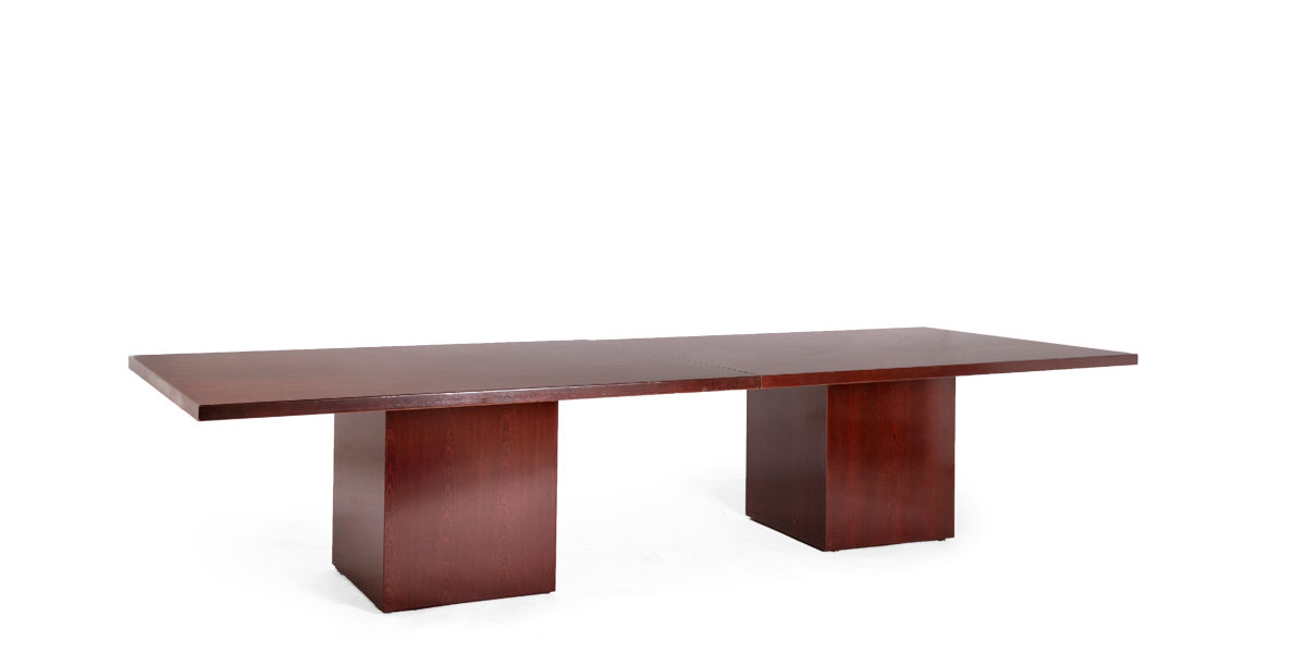 "72""w - 144""w x 48""d Mahogany Veneer Conference Table TBL006151"