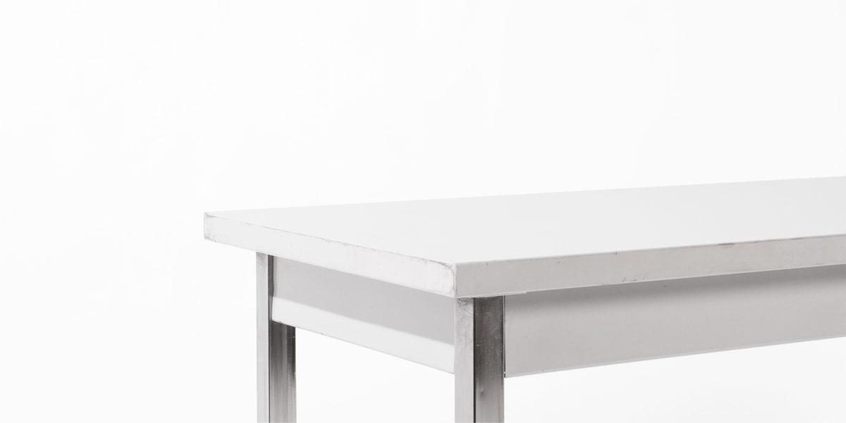 "72""w x 18""d Light Grey Laminate Work Table TBL008928"
