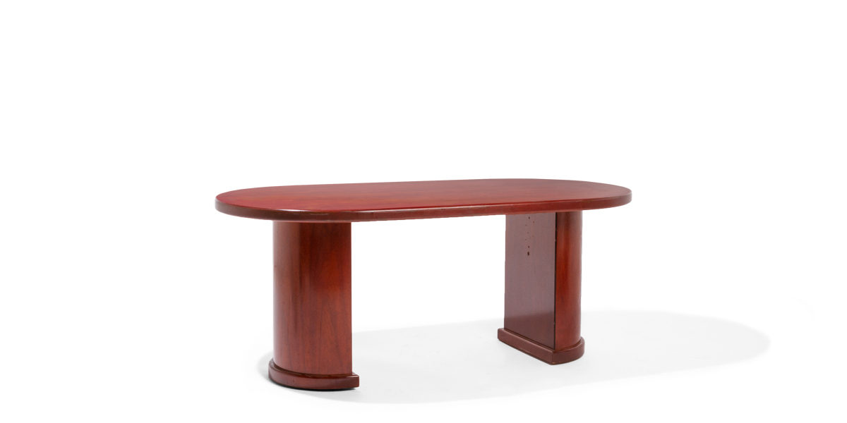 72″w x 36″d Dark Cherry Racetrack Conference Table TBL010719