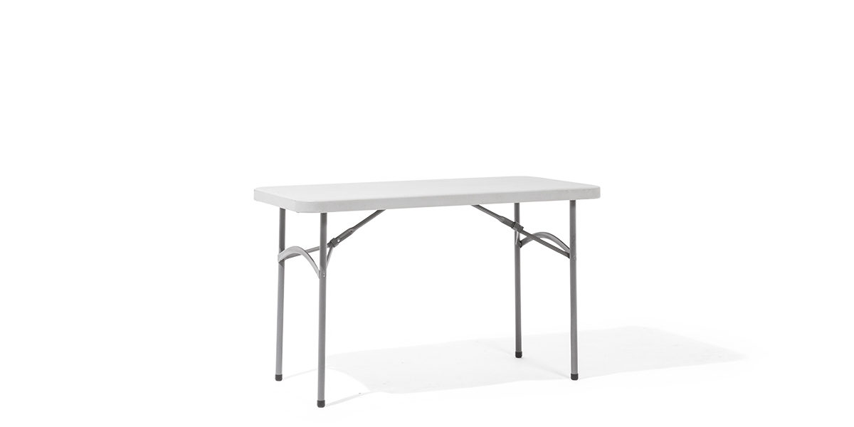 "48""w x 24""d Light Grey Folding Table TBL011753"