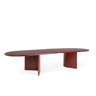 "144""w x 48""d Mahogany Veneer Racetrack Conference Table TBL012687"