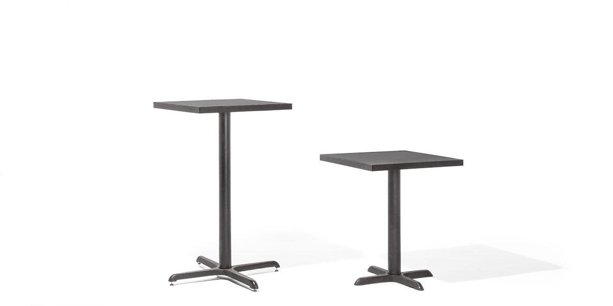 """24""""w x 24""""d Black Laminate Café Table Top TBL012723"""