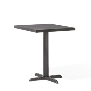 "24""w x 24""d Black Laminate Café Table Top TBL012723"