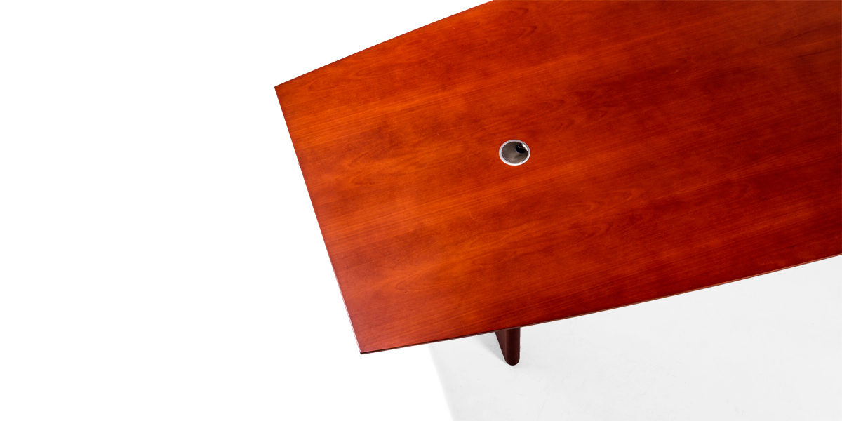 W X D Medium Cherry Conference Table TBL Arenson - 144 conference table