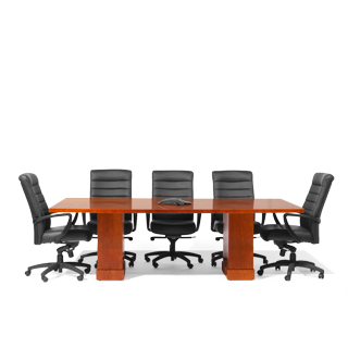 8ft - 24ft Modular Cherry Conference Table TBL013962